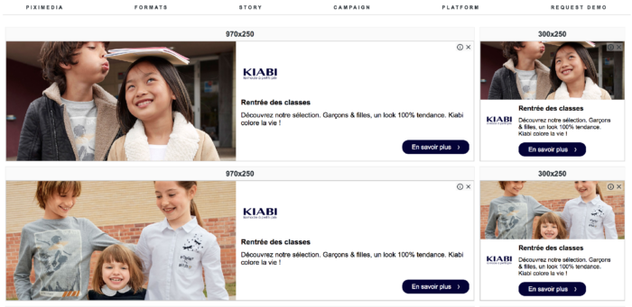 Exemple : DCO - Kiabi - Piximedia