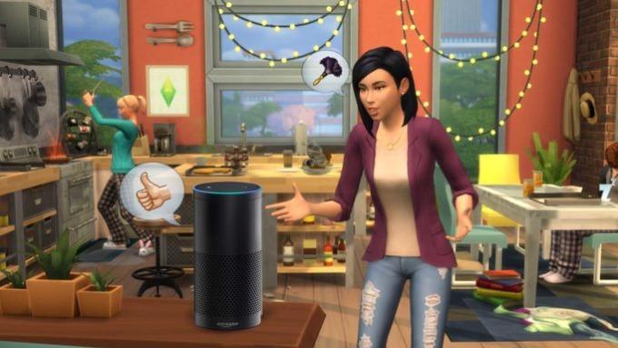 alexa s'invite chez les Sims