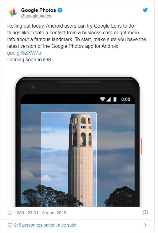 Capture écran Twitter