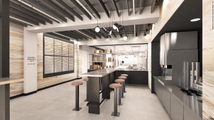 restaurant digital Chipotle à New York